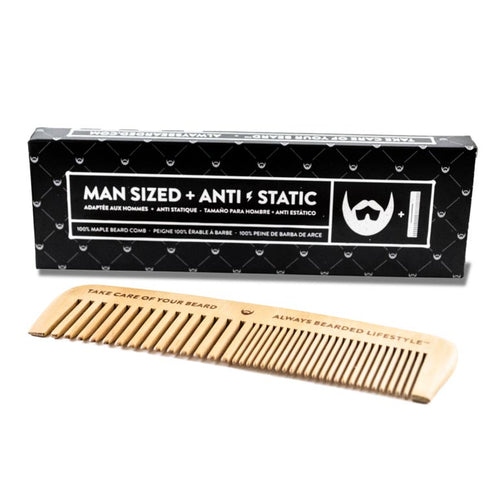 Anti-Static Maple Beard Comb with Black Box