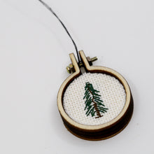 One-of-a-Kind Cross Stitch Design | Balsam Tree | Circle Hoop