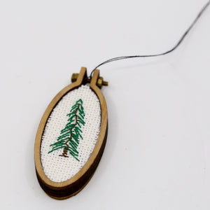 One-of-a-Kind Cross Stitch Design | Balsam Tree | Tall Oval Hoop