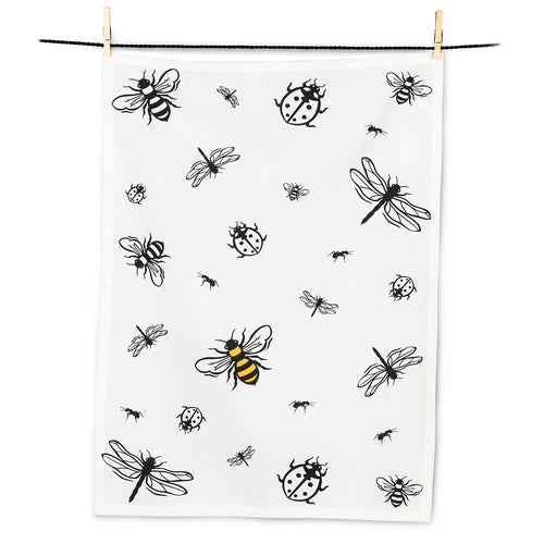 Bees, Dragonflies & Ladybugs Tea Towel