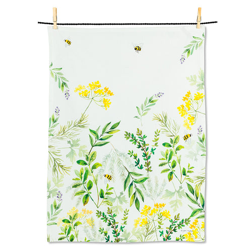 Bees & Wildflowers Tea Towel