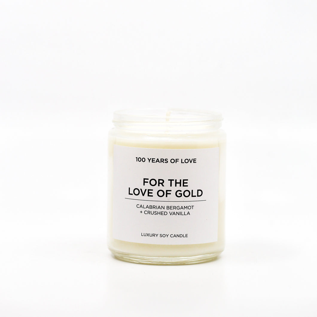 For the Love of Gold Soy Wax Candle