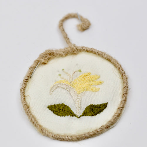 One-of-a-Kind Framed Embroidery | Honeysuckle Flower