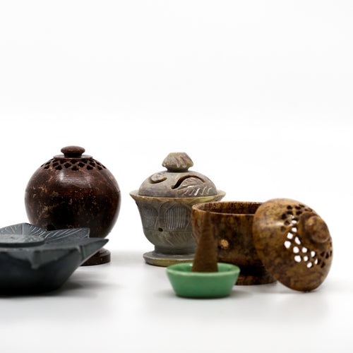 Soapstone Globe Incense Cone Holders