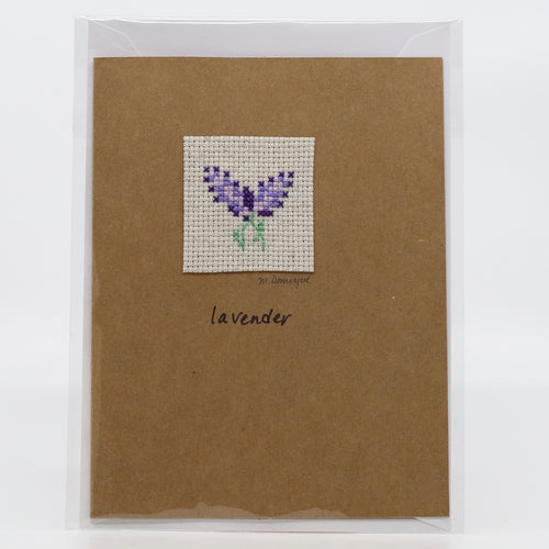One-of-a-Kind Cross Stitch Card | Lavender