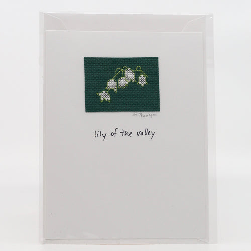 One-of-a-Kind Cross Stitch Card | Lily of the Valley