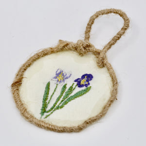 One-of-a-Kind Framed Embroidery | Irises