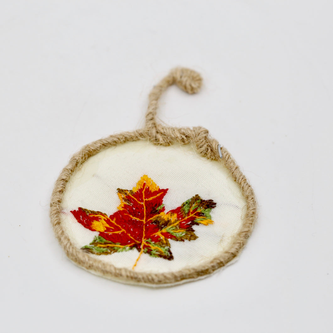 One-of-a-Kind Embroidery | Autumn Maple Leaf