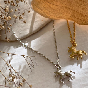 Unicorn Charm Necklace | Gold / Silver
