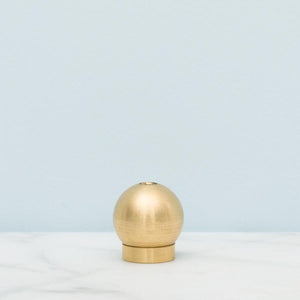 Minimalist Brass Ball Incense Holder