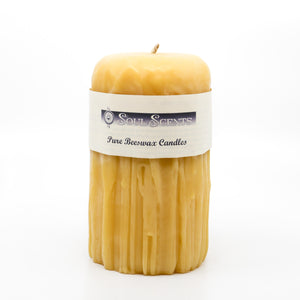 Beeswax Candle | Large Drip Pillar
