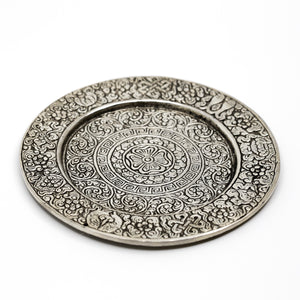 Recycled Aluminum Mandala Incense Holder