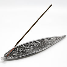 Recycled Aluminum Rose Leaf Incense Holder