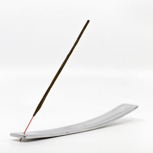 Recycled Aluminum Slender Boat Incense Holder