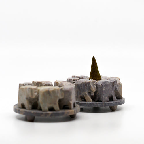 Soapstone Elephant Incense Cone Holder