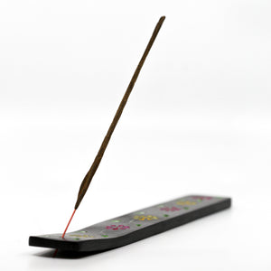 Soapstone Painted Floral Incense Holder