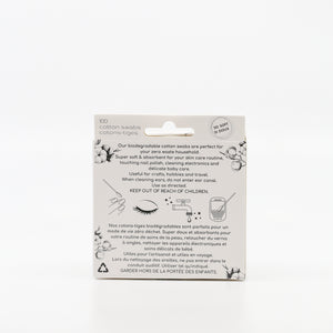 Biodegradable Bamboo Cotton Swabs | White | Pink | Aqua