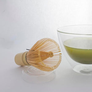 Bamboo Matcha Whisk & Glass Stand