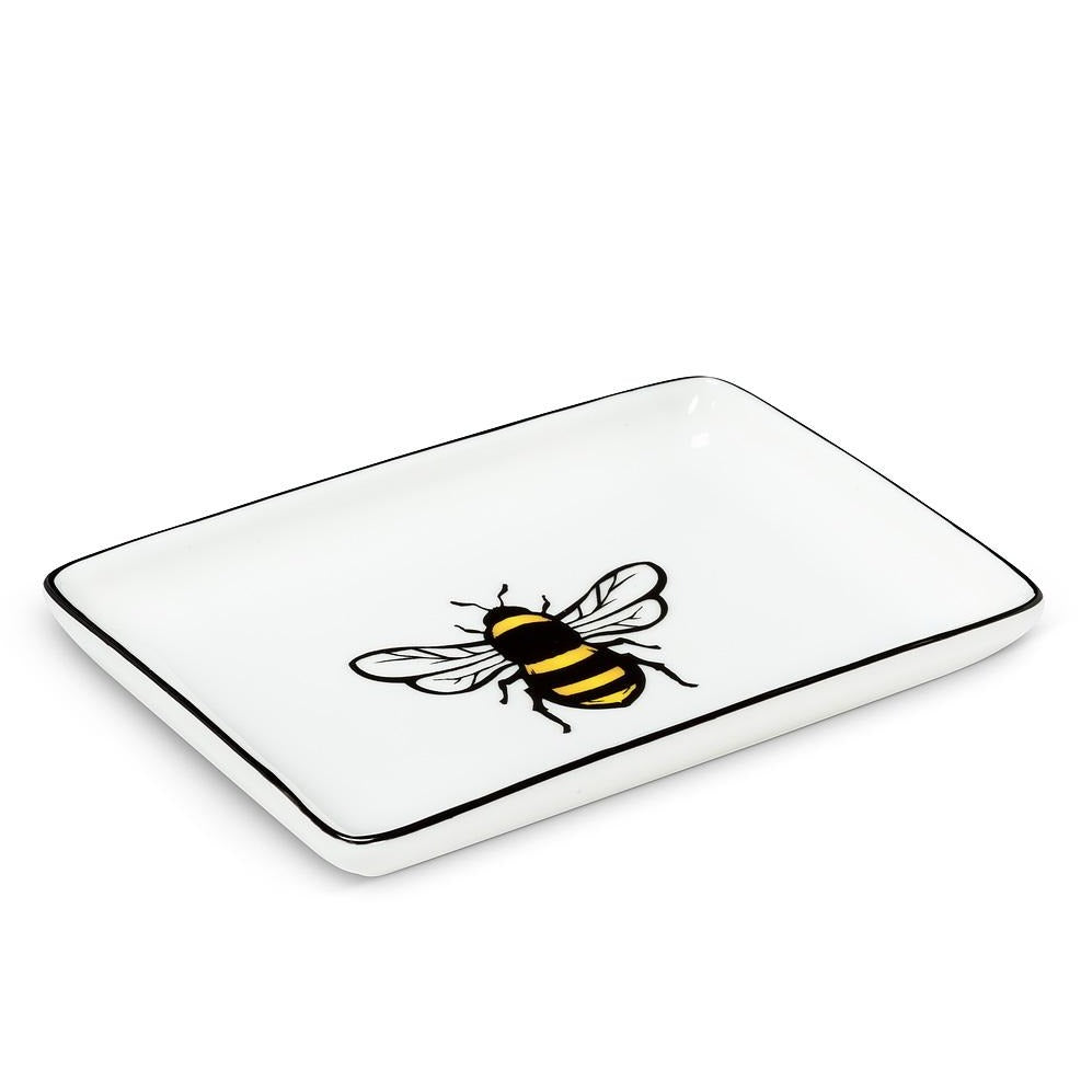 Queen Bee Ceramic Soap Dish | Rectangle
