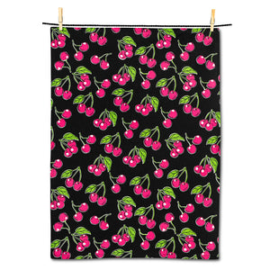 Bold Cherries Tea Towel
