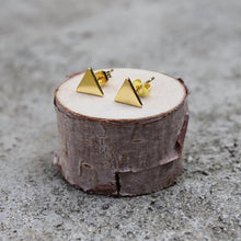 Gold Triangle Earrings | Solid Triangle