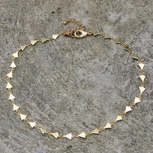 Gold Triangle Choker Necklace