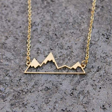Gold Mountain Silhouette Necklace