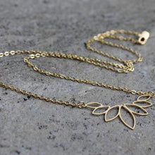 Gold Lotus Necklace