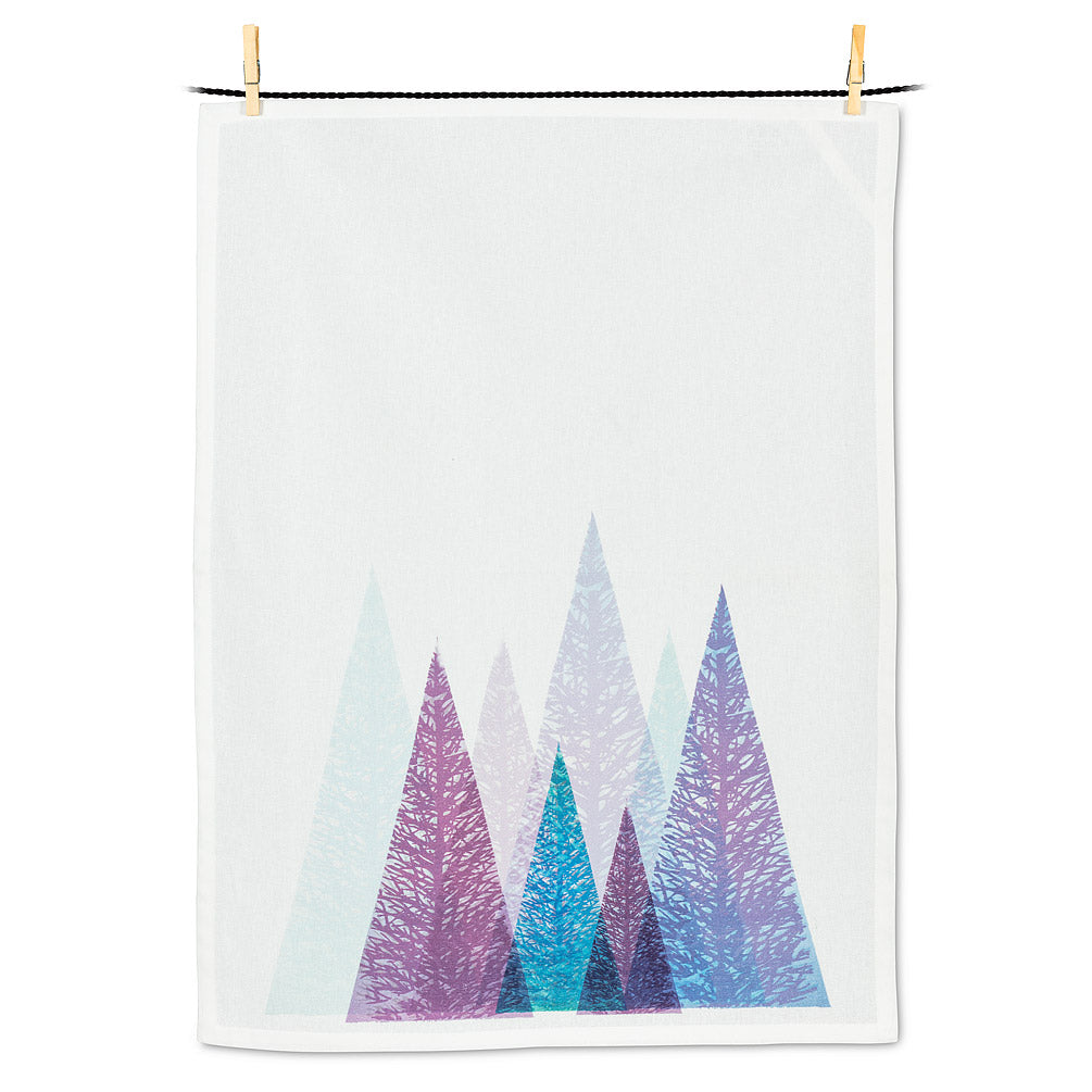 Modern Trees Tea Towel
