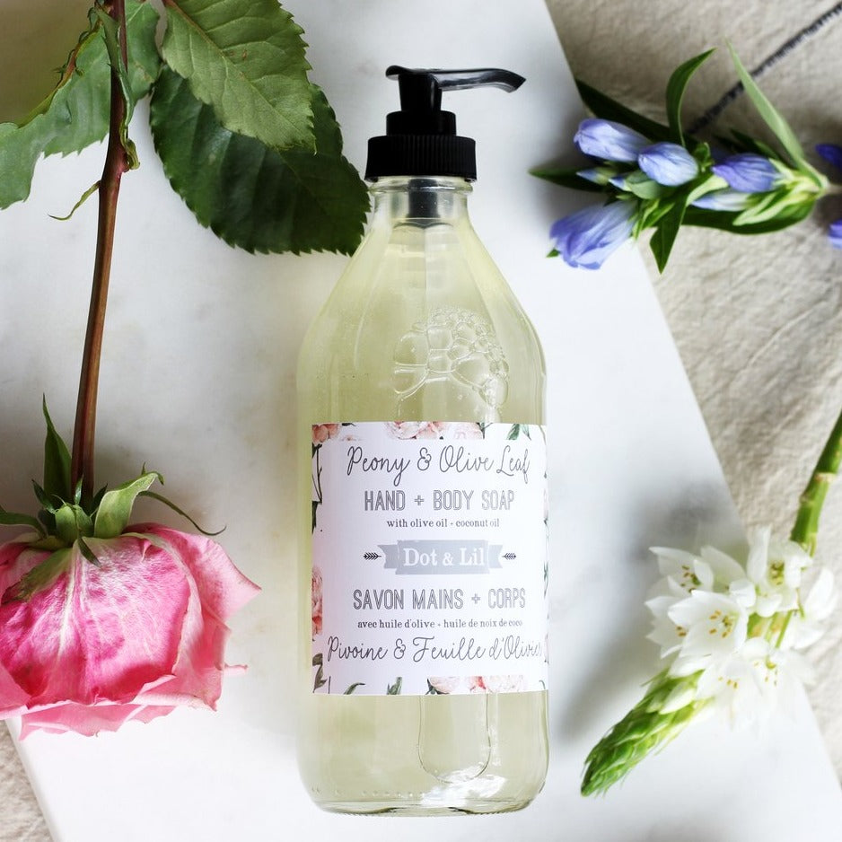 Peony & Olive Leaf Hand & Body Soap
