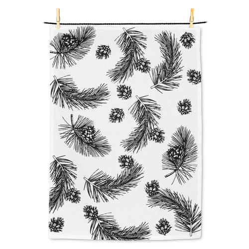 Pinecone & Branch Tea Towel