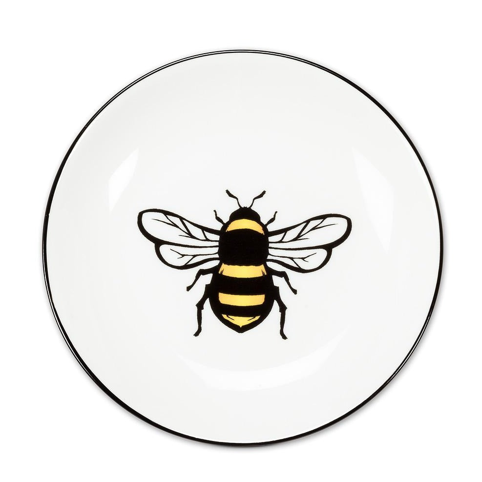 Queen Bee Ceramic Circular Dish