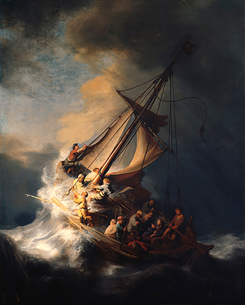 CHRIST IN THE STORM ON THE SEA OF GALILEE - REMBRANDT VAN RIJN, 1633