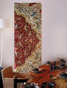 large wall art featuring coronation carpet