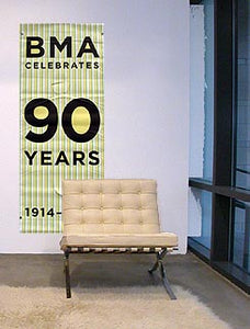 90 Years of BMA (vertical stripe)
