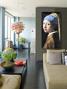 large wall art featuring girl with a pearl earring