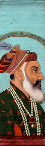 Miniature Watercolor of Emperor Shah Jahan