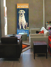 large wall art featuring Wyeth dog
