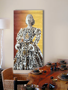 large wall art featuring fashion