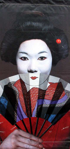 Geisha with Fan-Printed vinyl-Asian Art Museum-BetterWall