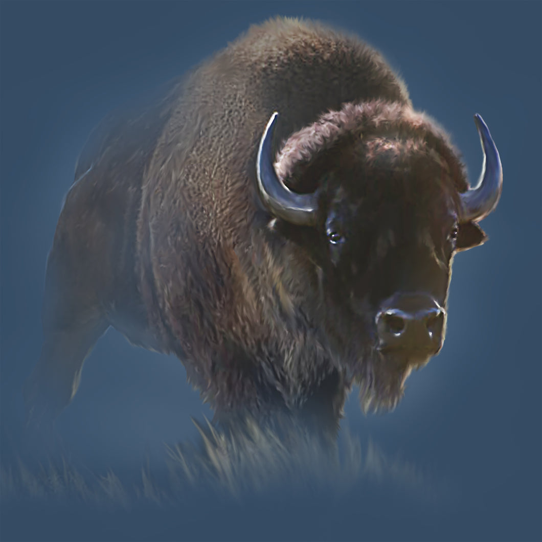 Bison- Painting of brown bison