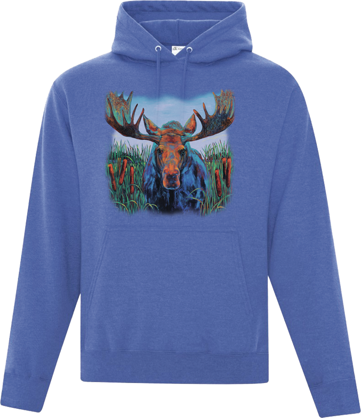 Bull Rush Moose Hooded Sweatshirt