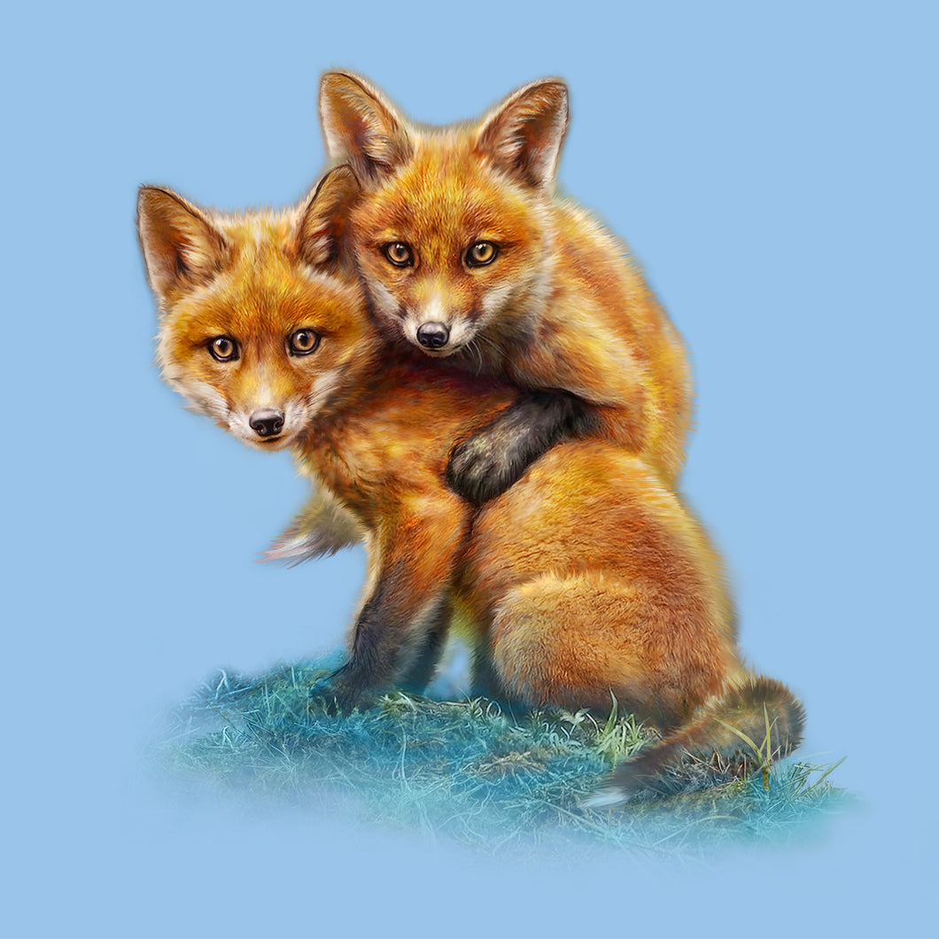 Fox Kits by Tami Alba- Artwork of two your foxes