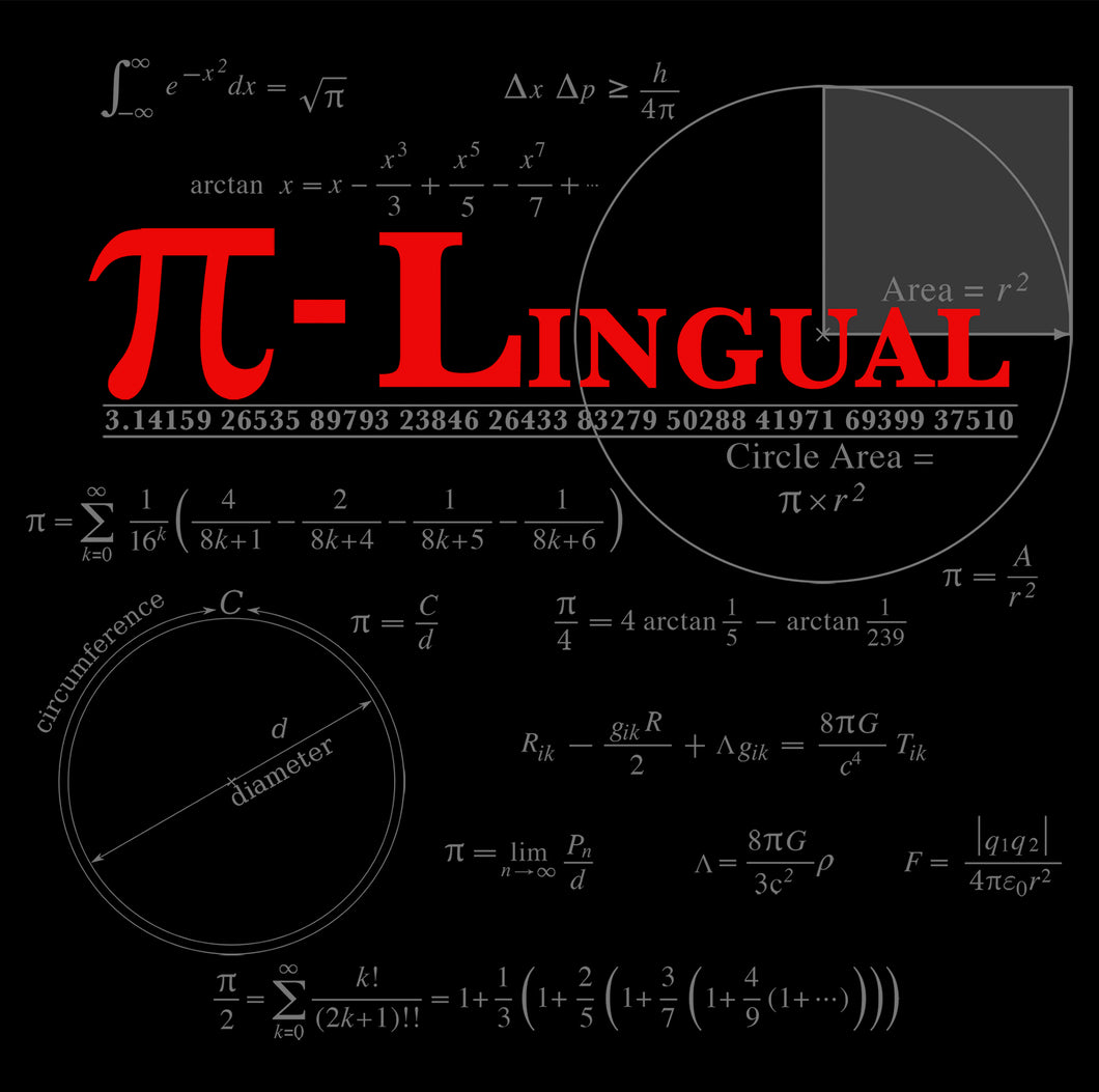 P-Lingual- art work of pi and other math symbols