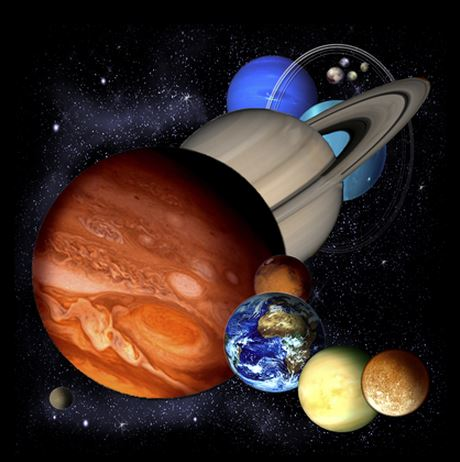 Planets- artwork of planets in the solar system