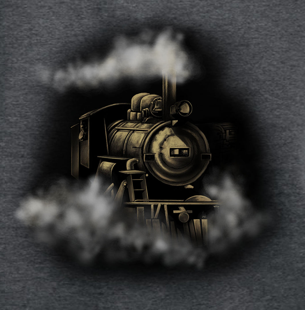 Steam Engine - painting of a steam engine