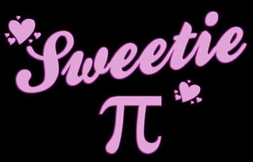 Sweetie Pi - painting of the word sweetie and the pi symbol