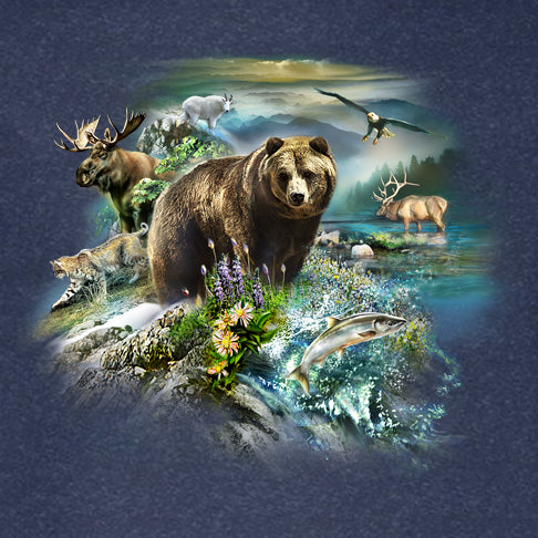 Wildlife Collage by Tami Alba - painting of an assortment of wildlife