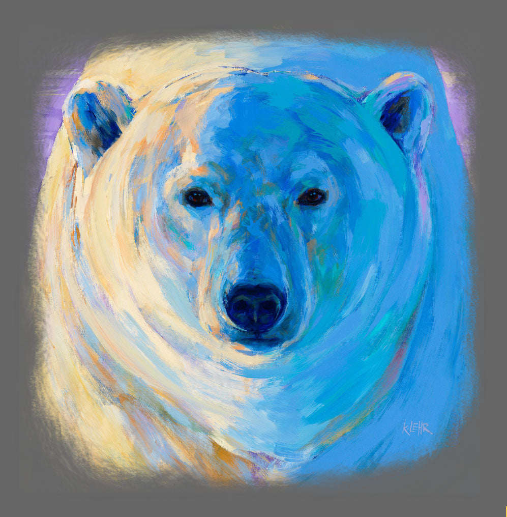 Polar Bear painting by Candian Artist Kari Lehr