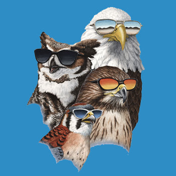 Cool Raptors - painting of 4 raptors with sunglasses